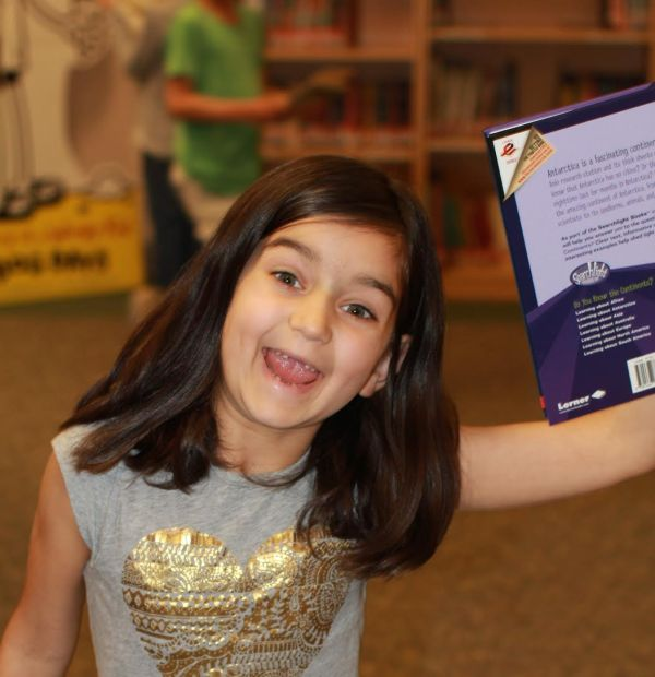 Donors Choose Book held by girl